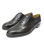 イヴサンローラン YVES SAINT LAURENT ローファー 靴 シューズ レザー メダリオン 24.5 茶 ダークブラウン /Z
