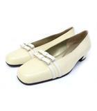 イヴサンローラン YVES SAINT LAURENT パンプス 靴 シューズ ローヒール 351/2 アイボリー /ZT6