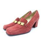 イヴサンローラン YVES SAINT LAURENT パンプス 靴 シューズ スエード 37 赤 レッド /ZT5