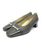 イヴサンローラン YVES SAINT LAURENT パンプス 靴 シューズ 金具 341/2 黒 ブラック /Z