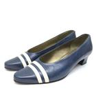 イヴサンローラン YVES SAINT LAURENT パンプス 靴 シューズ ローヒール 351/2 紺 ネイビー /ZT6