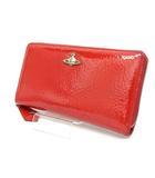 ヴィヴィアンウエストウッド Vivienne Westwood 長財布 オーブ ラウンドジップ 赤 レッド /Z