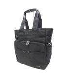 エースジーン ACEGENE 美品 ビジネストート トートバッグ 多収納 黒 ブラック 鞄 /Z