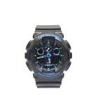 カシオジーショック CASIO G-SHOCK 極美品 GA-100CB-1AJF 腕時計 ウォッチ 迷彩 ブルー ブラック /Z