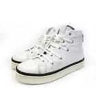 ホワイトフラッグス White Flags ハイカットスニーカー パイソン柄 靴 シューズ 厚底 26cm前後 白 ホワイト /Z