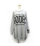 ロデオクラウンズ Rodeo Crowns ニット カットソー オーバーサイズ ビッグシルエット 長袖 /ZB