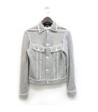 トリココムデギャルソン tricot COMME des GARCONS ジャケット カットオフ ステンカラー S 灰色 グレー /ZB