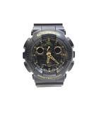 カシオジーショック CASIO G-SHOCK 極美品 腕時計 ウォッチ GA-100CF 迷彩 カモフラージュ 黒 ブラック /Z