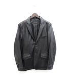 テットオム TETE HOMME 美品 レザージャケット 革ジャン テーラードジャケット S 黒 ブラック /Z