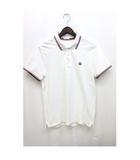 ポロシャツ ワンポイントロゴ 鹿の子 シンプル 半袖 M 白 ホワイト /Z
