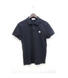 ポロシャツ ワンポイントロゴ 鹿の子 シンプル 半袖 M 紺 ネイビー /Z