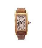 カルティエ Cartier タンクアロンジェ W1529956 腕時計 K18YG 750イエローゴールド クオーツ 電池交換済み