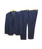 タケオキクチ TAKEO KIKUCHI 美品 2パンツ スーツ 3 ダークネイビー