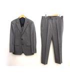 タケオキクチ TAKEO KIKUCHI 美品  DORMEUIL ドーメル生地 2B シングル スーツ 3 サイドベンツ グレー