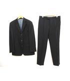 ヒューゴボス HUGO BOSS 美品 3B ブラック フォーマル シングル スーツ 50C