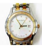 グッチ GUCCI 5500L YA055539 Gクラス 11Pダイヤ クォーツ 腕時計 シルバー ゴールド