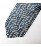 イヴサンローラン YVES SAINT LAURENT ストライプ シルク ネクタイ 水色