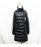 デュベティカ DUVETICA ELENIE ウール切替 ナイロン ダウンコート 42 Mサイズ相当 黒 ブラック系 灰色 グレー系