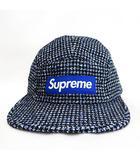 シュプリーム SUPREME ★AA☆17AW Boucle Houndstooth Camp Cap キャンプキャップ 帽子 紺ネイビー