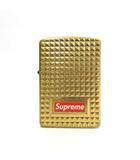 シュプリーム SUPREME ★AA☆17AW Zippo Diamond Cut Gold ダイヤモンドカット ボックスロゴ ジッポ オイルライター ゴールドカラー