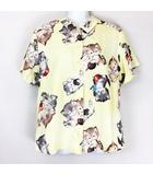 MISCHIEF CATS シャツ 半袖 10201123 ライトイエロー系