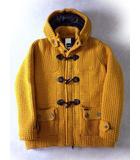 バーク Bark コート ニット ダッフルコート 中綿 ウール M マスタードイエロー 黄色 フード イタリア製 国内正規品