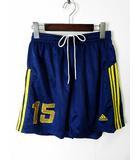 アディダス adidas パンツ ショートパンツ ハーフパンツ サッカー XL 青 ロイヤルブルー 黄色 ナンバー 15