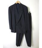 ビリードゥーエ BIGLIDUE スーツ ストライプ ウール ダブル 長袖 46 ブルーグレー ブラウン