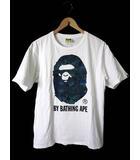 アベイシングエイプ A BATHING APE BAPE ベイプ Tシャツ カットソー 半袖 ロゴ プリント M 白 ホワイト 迷彩 カモフラ柄