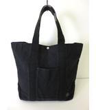 ポーター PORTER バッグ トートバッグ キャンバス ロゴ 黒 ブラック かばん 鞄 カバン