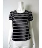 バーバリー BURBERRY Tシャツ カットソー 半袖 ストレッチ ボーダー 1 黒 ブラック 白 国内正規品