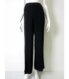 シャネル CHANEL パンツ スラックス 絹 シルク マトラッセ ココマーク 38 黒 ブラック 国内正規品
