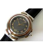 ティファニー TIFFANY & CO. 腕時計 K18 ゴールド ステンレス コンビ レザー ベルト クオーツ ウォッチ 電池交換済
