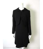 パーソンズ PERSON'S ブラックフォーマル ワンピース スーツ アンサンブル セットアップ 13 XL 黒 ブラック 7分袖ワンピース タグ付 美品