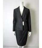エフデ ef-de スカート スーツ ストレッチ 上下セットアップ 13 XL チャコールグレー タグ付 美品