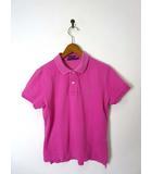 ラルフローレン RALPH LAUREN ポロシャツ ポニー刺繍 スキニー 鹿の子 コットン 半袖 L ピンク 国内正規品