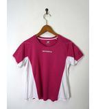ニューバランス NEW BALANCE Tシャツ ドライ ロゴ 切替 半袖 M ピンク 国内正規品 トレーニングウェア スポーツウエア