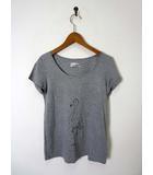 アーバンリサーチ URBAN RESEARCH Tシャツ フラミンゴ柄 リヨセル コットン 半袖 グレー