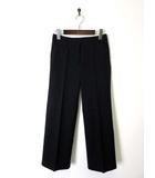 ルイシャンタン Lui Chantant パンツ ワイド ストレッチ コットン S 黒 ブラック