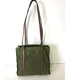 プラダ PRADA バッグ ショルダーバッグ ナイロン レザー カーキ グリーン 三角プレート ロゴ かばん 鞄
