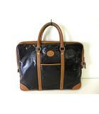 VITESSE LUIGI バッグ ブリーフケース ビジネスバッグ かばん 黒 ブラウン ウレタンコーティング ナイロン レザー