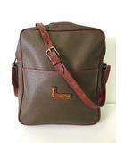ランセル LANCEL バッグ ショルダーバッグ PVC レザー ブラウン系 ロゴ 通勤 ビジネス かばん 鞄