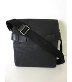 ダンヒル dunhill バッグ ショルダーバッグ PVC レザー 総柄 黒 ブラック かばん 鞄