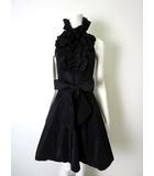 リナシメント RINASCIMENTO ワンピース ドレス フレア ホルターネック フリル XS 黒 ブラック パーティードレス 2次会