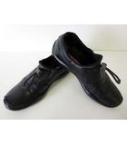 プラダスポーツ PRADA SPORT スリッポン ローファー シューズ 革靴 レザー 6.5 黒 ブラック くつ 靴