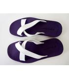 ヘンリー&ヘンリー HENRY&HENRY サンダル ビーチサンダル ラバー イタリア製 41-42 紫 パープル 白 26-27cm くつ 靴 シューズ