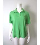 トピィーズ Topys トピーズ アトリエドール ポロシャツ ロゴ刺繍 コットン 半袖 緑 グリーン