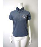 キャプテンサンタ CAPTAIN SANTA ポロシャツ ボタンダウン 鹿の子 ロゴ ワッペン 半袖 紺 ネイビー ゴルフ