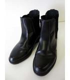 ドクターマーチン DR.MARTENS FLORA フローラ ブーツ サイドゴアブーツ ショートブーツ レザー UK 5 黒 ブラック 24.0cm くつ 靴 シューズ