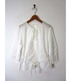 スイヴィ SUIVI ブラウス チュニック コットン 7分袖 XS 白 小さいサイズ